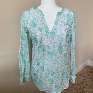 Lilly Pulitzer embroidered woven shell print #85